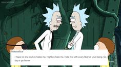 Rick and Morty + text posts