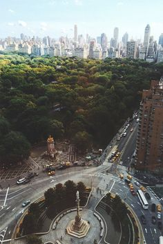 NYC. Central Park from Columbus Circle