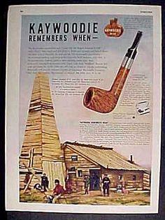Kaywoodie Briar Pipe Ad - 1948
