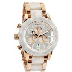 d6047e5cd11 Nixon Womens Watch The Chrono Rose Gold White Granite.My new watch I got  for Christmas