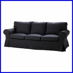 EKTORP Sofa cover IKEA The cover is easy to keep clean as it is removable and can be machine washed. Ektorp Sofa Bed, Ektorp Sofa Cover, Couch Cushion Covers, Sofa Covers, Chaise Couch, Sofa Slipcovers, Sleeper Sofa, Black Couches, Houses