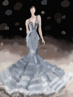 Created with Artrage for iPad NY Fashion Week Spring 2012 - Zac Posen collection