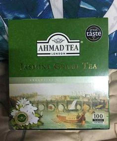 London Jasmine Green Tea (100 teabags 200g) -Chinese Origin (Ahmad Tea Brands)  #AhmadTea Japanese Taste, Japanese Matcha, Pure Green Tea, Jasmine Green Tea, Ahmad Tea, Matcha Green Tea Latte, Tea Brands, Types Of Tea, The 100