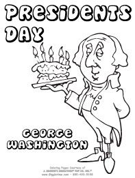 Printable President George Washington coloring page and biography ...
