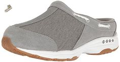 Easy Spirit Women's Travelport Mule, Grey/Grey Suede, 8 M US - Easy spirit mules and clogs for women (*Amazon Partner-Link)