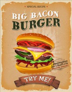 Vintage fast food poster design vector 01 - https://gooloc.com/vintage-fast-food-poster-design-vector-01/?utm_source=PN&utm_medium=gooloc77%40gmail.com&utm_campaign=SNAP%2Bfrom%2BGooLoc