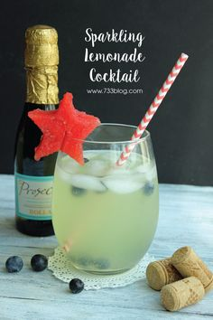 Patriotic Sparkling Lemonade Cocktail Sparkling Lemonade Cocktail - Perfect for lounging by the pool on a warm summer day! Patriotic Sparkling Lemonade Cocktail Sparkling Lemonade Cocktail - Perfect for lounging by the pool on a warm summer day! Sparkling Strawberry Lemonade, Raspberry Cocktail, Lemonade Cocktail, Cocktails Made With Vodka, Easy Summer Cocktails, Summer Drink Recipes, Star Cookie Cutter, Ice Cream Floats, 4th Of July Desserts