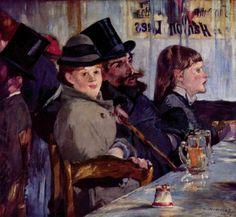 Au café, 1878, Edouard Manet