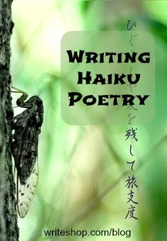Writing Haiku Poetry with Kids - Haiku paints a picture in the reader's mind, and leaves an impression on a heart or soul.