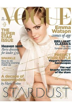 Emma Watson on the December 2010 issue of Vogue.