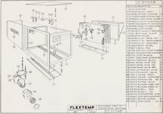 Exploded view of evaporator section