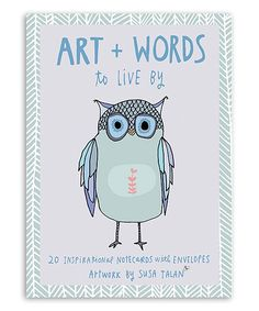 Art + Words to Live By Hand-Drawn Note Card - Set of 20