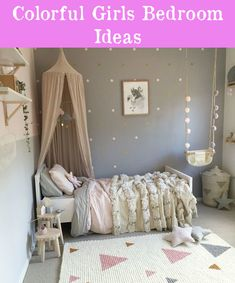 Toddler girls bedroom toddler girl room decor elegant captivating toddler girl bedroom ideas pictures in home Bright Girls Rooms, Little Girl Rooms, Grey Girls Rooms, Pretty Bedroom, Blue Bedroom, Bedroom Kids, Kid Bedrooms, Magical Bedroom, Princess Bedrooms