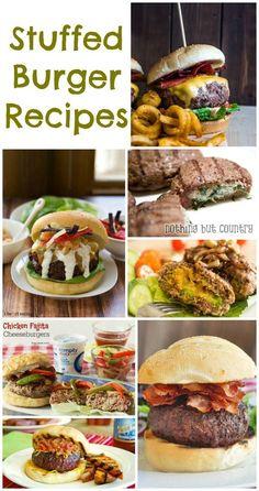 Stuffed Burger Recipes #BBQ #Camping http://www.momsandmunchkins.ca/2014/06/30/stuffed-burger-recipes/