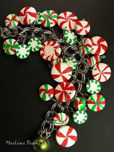 Christmas polymer clay bracelet...