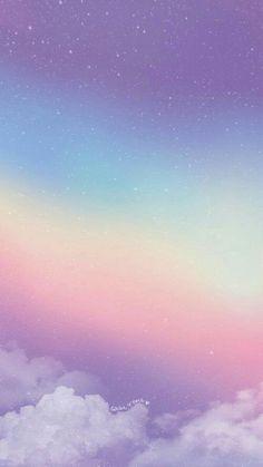 Tumblr Wallpaper, Cloud Wallpaper, Rainbow Wallpaper, Iphone Background Wallpaper, Scenery Wallpaper, Kawaii Wallpaper, Pastel Wallpaper Backgrounds, Pastel Rainbow Background, Pastel Lockscreen