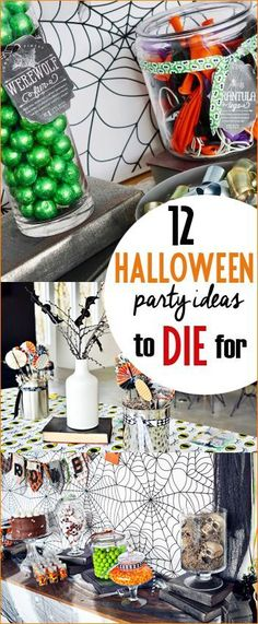 12 Halloween Party Ideas To Die For.  Tips and tricks to hosting the most amazing Halloween party.  Ghostly ideas for all your favorite little ghouls.  Class Halloween party ideas.  Kid friendly Halloween Party.  Flawless Halloween home decor that will scare all who choose to enter...