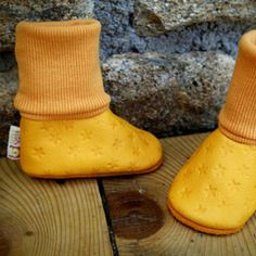 Chaussons de portage orange