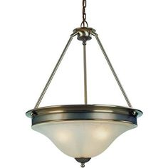 Z-Lite Dynasty Collection Burnished Nickel/Chocolate Finish Three Light Pendant