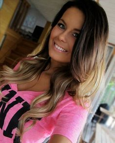 Brunette with blonde balayage