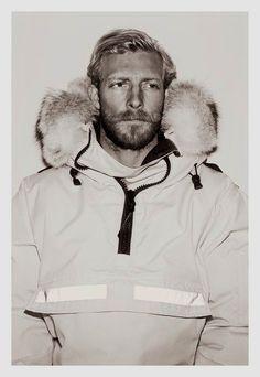 Handsome Sruffy Bearded Nordic Fisherman.