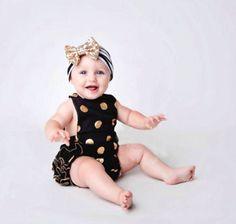 100% Brand New e de alta qualidade Meninas bonitos Do Bebê Bodysuit Dot design de moda Bonito tamanho: 60 70 80 90 cor: Como o show de imagem Material:algodão