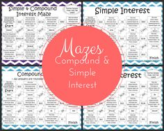 Worksheets Simple And Compound Interest Word Problems Worksheet practice applying compound interest formulas with these word simple mazes my 8th grade math students will love this worksheet alternative