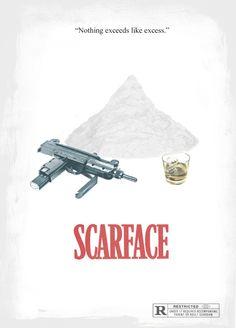 Scarface (1983) - The Empire Strikes Back (1980) - Minimal Movie Poster by Ridd Sorensen ~ #minimalmovieposter #alternativemovieposter #riddsorensen