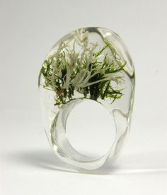 Clear Moss Ring by sisicata on Etsy, $40.00