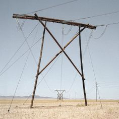 dillon marsh:  Pylons along the road to Luderitz (southern namibia)