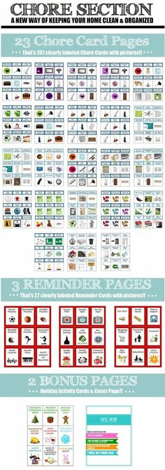 Chore Binders. Take the chore charts OFF the walls and fridge and put them into the hands of your child!