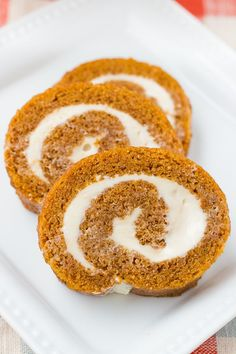 Perfect Gluten-Free Pumpkin Roll! Moist spiced cake wrapped around velvety cream cheese frosting. The perfect Thanksgiving dessert! {Grain-Free, Dairy-Free Option}