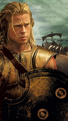 Troy (2004) Phone Wallpaper   Moviemania Troy Movie, Movie Tv, Troy Film, Troy Achilles, Brad And Angelina, Character Wallpaper, Film Serie, Ancient Greece, Foto E Video
