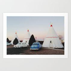 Wigwam Motel Art Print by Kevin Russ - $17.00