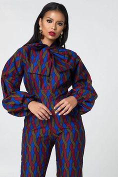 Look at this Gorgeous latest african fashion look African Print Jumpsuit, African Print Dresses, African Fashion Dresses, African Dress, African Shirts, African Wear, African Attire, Mode Du Ghana, Ankara Styles For Women