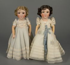 Princess Elizabeth and Princess Margaret Rose dolls, Jumeau, 1938, courtesy of The Strong, Rochester, New York.