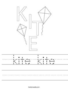 kite kite worksheet that you can customize and print for kids.