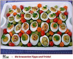Party - Eier ♥ Gefüllte Eier in 4 Varianten