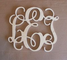 WANT! but in black.     30 INCH Large 3 Wooden Vine Connected Monogram by EleganceLetters, $50.00