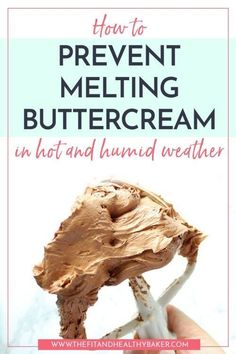 How to Prevent Melting Buttercream in Hot and Humid Weather Is the summer heat creating a buttercream disaster for you? Click through for tips on How to Prevent Melting Buttercream in Hot and Humid Weather. Frosting Tips, Cupcake Frosting, Cake Icing, Frosting Recipes, Eat Cake, Cupcake Cakes, Wedding Cake Frosting, Frosting Techniques, Wedding Cakes