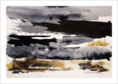 Rutheart: Melting snow - Watercolour (sold)