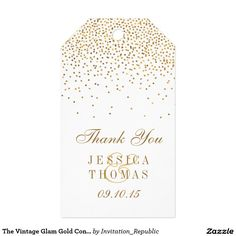The Vintage Glam Gold Confetti Wedding Collection Gift Tags---Inspirational Family Quote Canvas Print===CYBER MONDAY SALE-- VIP Early Access: Up to 70% OFF on Christmas Essentials, USE CODE: ZAZCYBERSALE