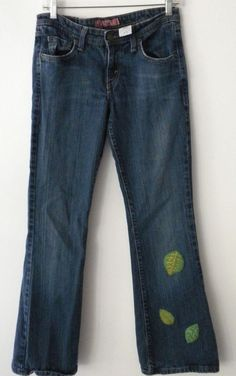 One of a Kind A pique Up cycled  Women's Levis Superflow 518 jeans size 5 Short #Levis #Supperflow518BootCut