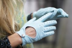 Tiffany Blue Gloves, lalalove these! I have huge collection of gloves there super chic!