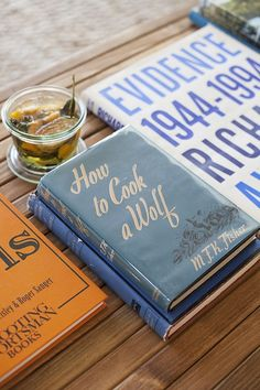 coffee table books- what is that delicious glass full of loveliness????