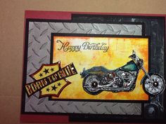 Harley Davidson born to ride birthday card for him.