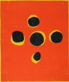 Henri Matisse. Maquettes for a set of red and yellow liturgical vestments.  (c. 1950). Gouache on cut-and-pasted paper, mounted on paper
