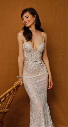 Spaghetti strap sheer bridal gown Bridal Dresses, Wedding Gowns, Lace Wedding, Dream Wedding, Mermaid Gown, Lace Mermaid, Mermaid Wedding, Wedding Dress Gallery, Sophisticated Bride