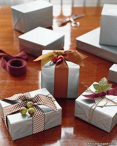Silver Tissue and Beautifl Ribbons