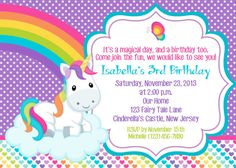 Unicorn Invitation  Personalized Custom by afairytalebeginning, $12.00